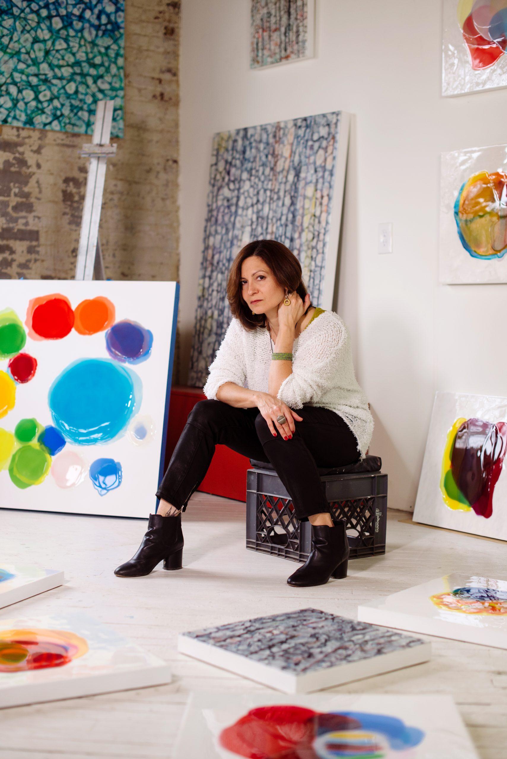 Farida Hughes portrait with art 0024