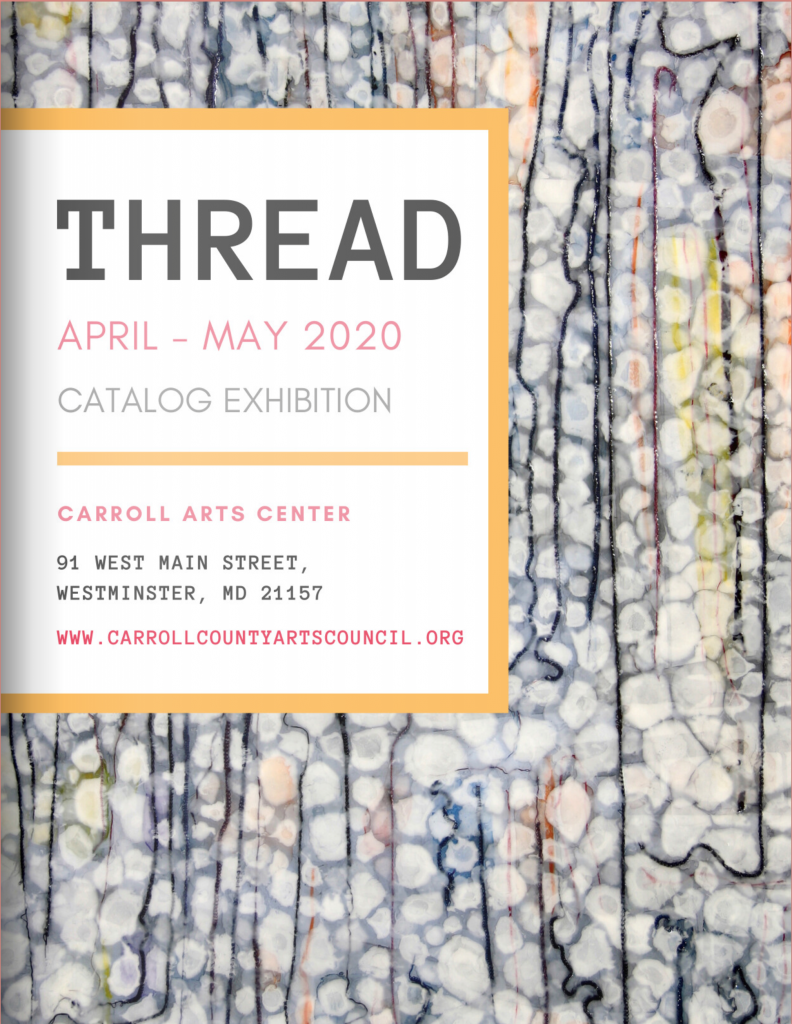 Thread cover from carroll arts center