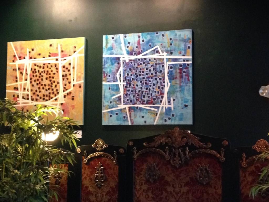 Farida Hughes artwork at the Jungle Theater